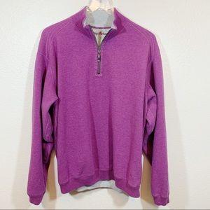 Tommy Bahama half zip sweater purple